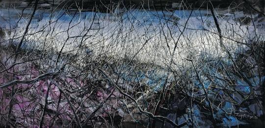 曾梵志《无题07-14》260×540cm布面油画2007  成交价:2127.5万元
