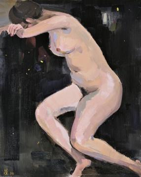 吴冠中《夜》92×73cm布面油画1990  成交价:2817.5万元