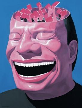 岳敏君 《记忆NO.4》 140×110cm 布面油画 2000  成交价:322万元