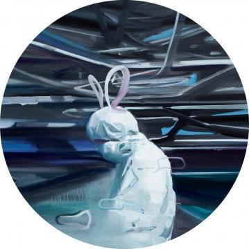 贾蔼力 《好运兔》 1直径80cm 布面油画 2009  成交价:138万元