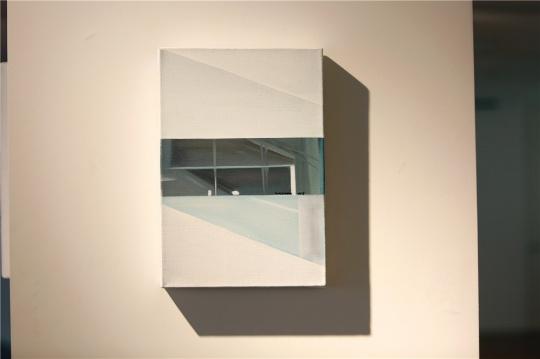 夏晶心《镜像 c6》35×24cm布面油画 2015