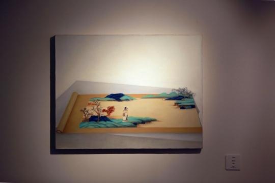 魏阳阳《好江山》80×90cm布面油画 2016