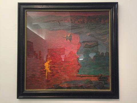 李秀实 《午夜黑龙江——界河噫感》 100×94cm 油画 1979