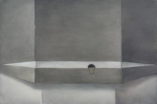 《洞穿》 No.5 90× 60cm 布面油画 2015
