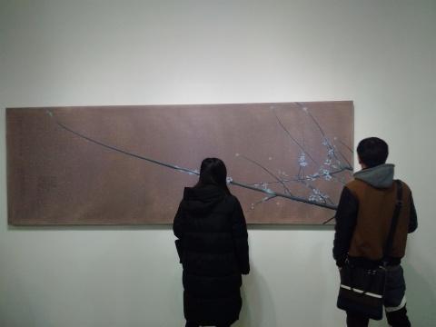 《探花之春消息图》 100×300cm 布面油画 2015