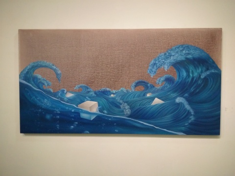 《海上方》 110×210cm 布面油画 2016