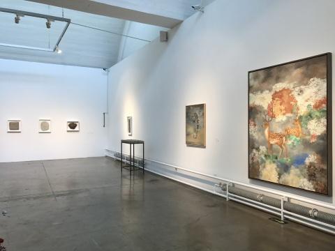 李超 《丹枫呦鹿图》200x150cm 布面油画 2011