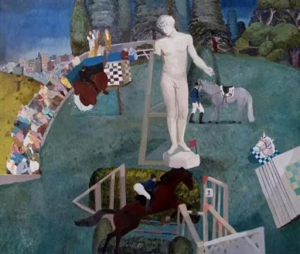 瑃燕《一个准时出现的梦》100x130cm 布面油画 2012