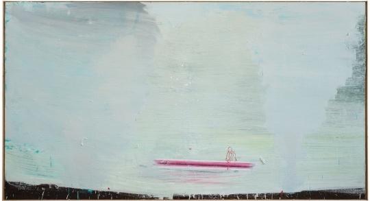 马轲《刻舟求剑》207x375cm 布面油画 2014