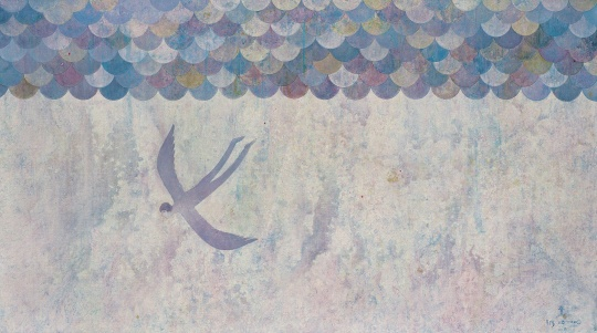 牟林童《我在海上,名为忧伤 II》108x195cm 布面油彩丙烯 2009
