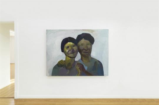 《母亲和女儿》 120×160cm布面丙烯 2015