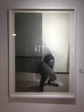 黄启覃 《瞬间NO.1》 153×110cm 纸本素描 2011