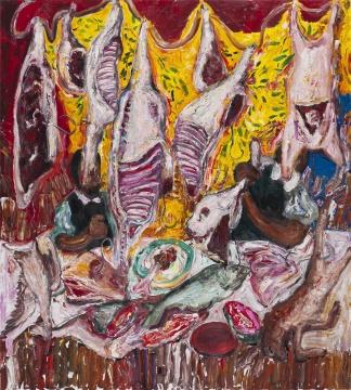 董鹤 《肉肉肉》 2016 布面油画 200×180cm