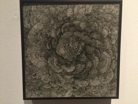 古鹏 《无题5》 2015 布面综合材料 25×25cm