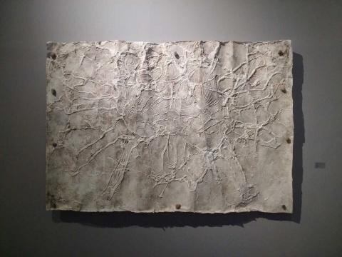 邓大非《互相安抚刻》 230×160cm 宣纸拓印 2015