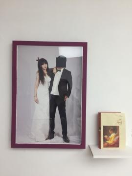 冯琳和丈夫的结婚照