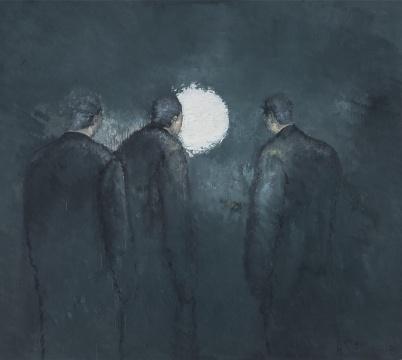 《白月亮》 200X170CM 布面油画 2014