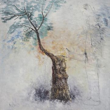 《地坛公园》 160x160cm 布面油画 2013
