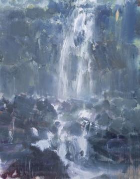 《河流》 185×145cm 丙烯画布 2016