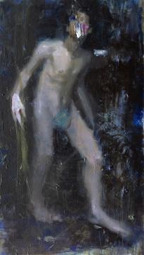 《狼牙色的光》 185×107cm 丙烯画布 2015