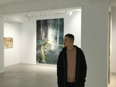 韦嘉在展览现场