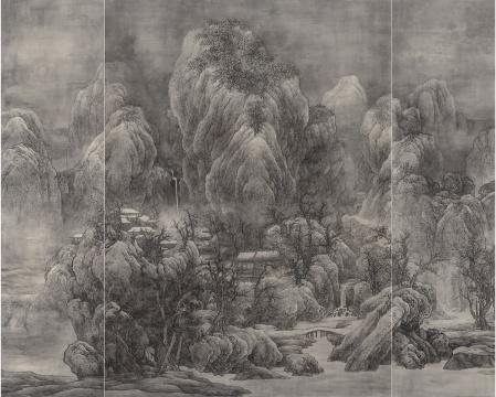 泰祥洲 《天作高山》 水墨绢本 164.5 x 205 cm 2014