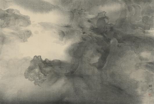 泰祥洲《黄钟大吕》(6) 水墨绢本 28.5 x 42 cm 2016