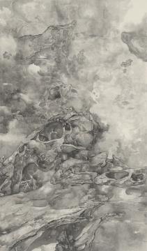 泰祥洲 《平行宇宙》 水墨绢本 200×120 cm×9 2016