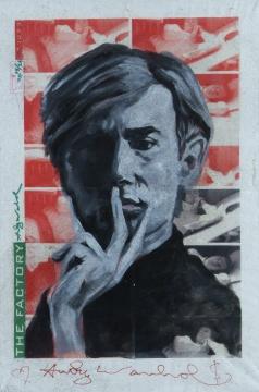 Andy Warhol《安迪沃霍尔》 材质 帆布丝网印刷 手工油