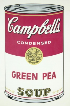 Campbell's Green Pea Soup《坎贝尔的绿豌豆汤》材质 纸面丝网印刷