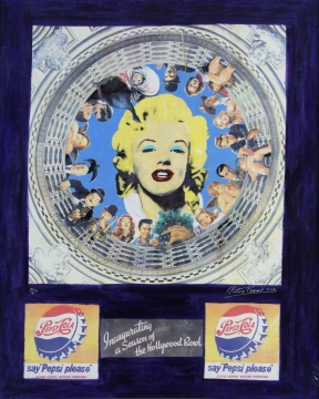 Marilyn and Pepsi《梦露和百事》 材质 帆布丝网印刷 手工油彩上色