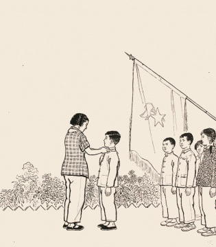 《雷锋小时候的故事》插画之一