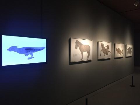 武宏《古变》(视频)与《山海经系列:鹿蜀、猼訑、䰷鱼、旋龟》 (绘画)