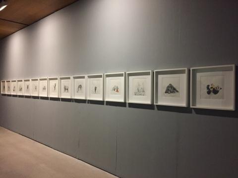 约翰·瑞瓦《疯狂的动物》铅笔水彩画30×30cm/每张2017