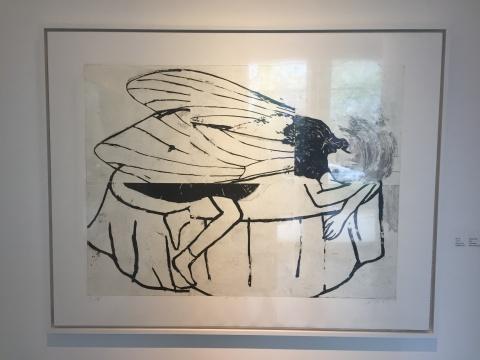 《卡夫卡》 100×125cm 蚀刻版画 2014