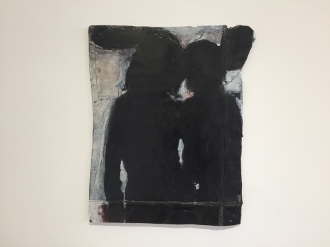 Jean-Charles Blais 《两个朋友》 42×34cm 海报上油画、铅笔 2016