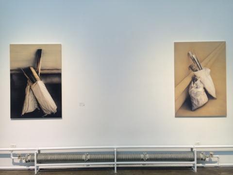 池田光弘 《场·肖像-比利时3号》 130.3×89.4cm 布面油画 2015、《场·肖像-比利时2号》 130.3×89.4cm 布面油画 2015