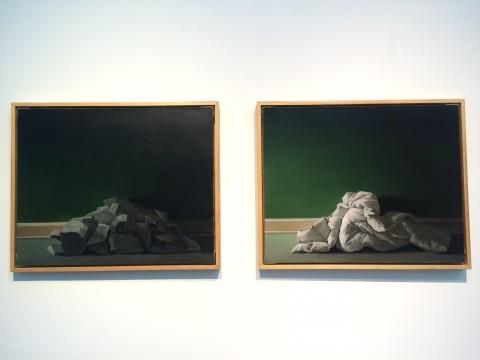张英楠 《形态的表现方式》 100×80cm 布面油画 2011