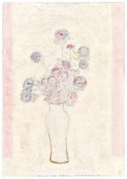 常玉 《白瓶粉红菊》100×70.6cm油彩画布 1931  成交价:5546万港元