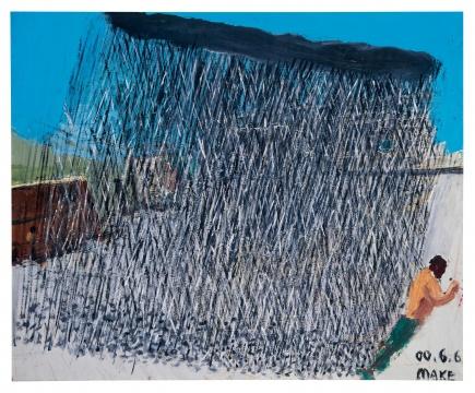 """马轲《阵雨》58×70.8cm 油彩木板 2000流拍拍卖结束后,在对业内人士的采访中,有人提到""""拍得尴尬,不太好说"""";同时也有如资深市场专家李苏桥讲道""""不管怎样,一场拍卖也代表不了什么""""。但保利香港这场也提示了很多新可能:50-60后中流砥柱是否已""""大势已去""""?年轻一代又将走向何方?如何把握市场热点,是拍卖公司要想打一场漂亮胜仗的前提。而这个前提,是所有拍卖公司都要做的必修课。今天的拍卖市场和画廊市场,已经渐行渐远。"""