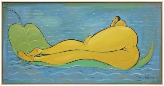 《无题》108x215cm 纸本丙烯,油画 2016
