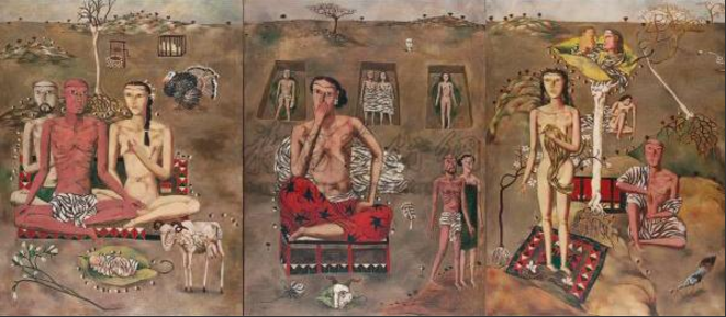 张晓刚 《生生息息之爱》125×97.5cm 布面油画 1988  成交价:79,060,000HKD