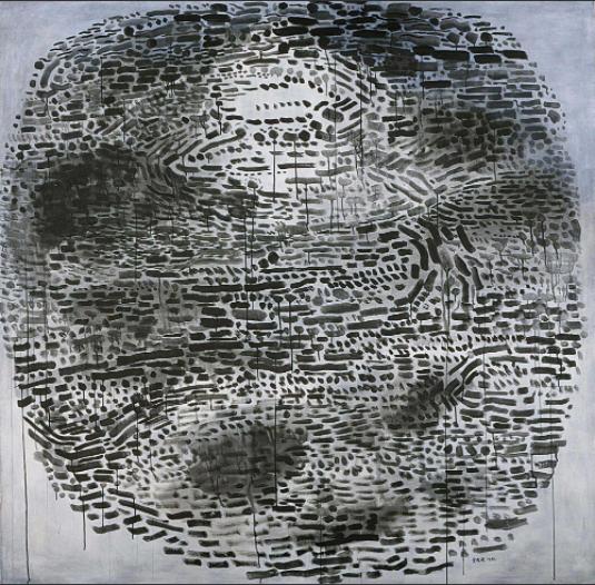 余友涵 《圆系列1986-8》198×198.5cm 亚克力画布 1986  成交价:7,220,000HKD