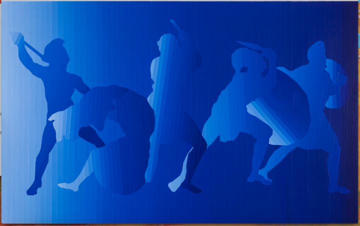 徐渠 《暴力》200×320cm布面丙烯2013-2014