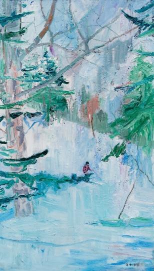 《滑雪》 250×140 cm 布面油画 2016