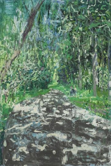 《望京公园里的小路之一》 300×200cm 布面油画 2014