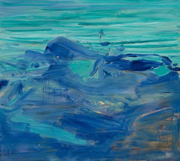 《去冲浪的人》 180×200cm 布面油画 2017