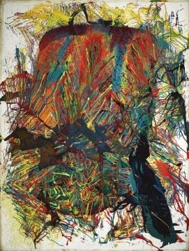 嶋本昭山 《爆发64-1》 239×179cm 油画画布 1964  成交价:2050万港元,刷新艺术家个人纪录