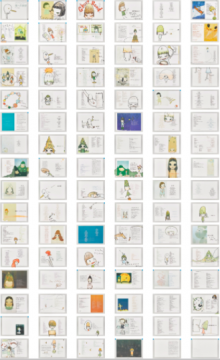 奈良美智 《问候鸟儿》(一组96件) 30×42cm×96 彩色铅笔及亚克力纸本 2006  成交价:970万港元