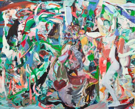 塞西莉·布朗 《四散离去的仙女》 170×211cm 油画画布 2014  成交价:670万港元